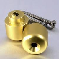 Алюминиевые наконечники руля Pro-Bolt на Honda 20 (пара), золотые