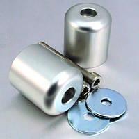Алюминиевые наконечники руля Pro-Bolt на Suzuki 20 (115мм болты) (пара), серебр.