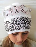 Детская вязаная шапка без флиса