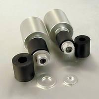 Алюминиевые наконечники руля Pro-Bolt универсальные 10 (пара), серебр.