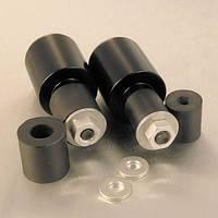 Алюминиевые наконечники руля Pro-Bolt универсальные 10 (пара), черные