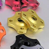 Алюминиевые регуляторы нагрузки вилки Pro-Bolt 14мм тонк.шестигр. (пара), золотые