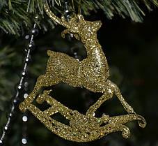 Новогоднее украшение Олень детский золото 0327, фото 3