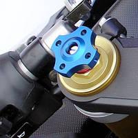 Алюминиевые регуляторы нагрузки вилки Pro-Bolt 14мм тонк.шестигр. (пара), синие