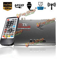 Цифрового наземного HDMI 1080p DVB-T / T2 TV Box VGA AV CVBS тюнера приемник с пультом дистанционного управления