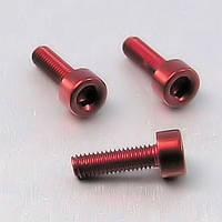 Алюминиевый болт Pro-Bolt M6 x (1,00mm) x 12mm, красный