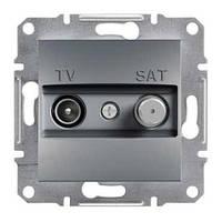 Розетка SCHNEIDER ASFORA EPH3400162 TV-SAT концевая (1 дБ) сталь