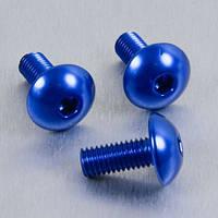 Алюминиевый болт Pro-Bolt с полукруг. головкой M6 x (1,00mm) x 10mm, синий