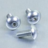 Алюминиевый болт Pro-Bolt с полукруг. головкой M6 x (1,00mm) x 10mm, серебр.