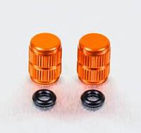 Алюминиевый колпачок вентиля камеры Pro-Bolt, оранжевый (пара)