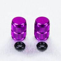 Алюминиевый колпачок вентиля камеры Pro-Bolt, фиолетовый (пара)