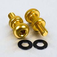 Алюминиевый лапчатый болт Pro-Bolt M8 (15 мм резьба)(пара), золотые