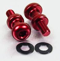 Алюминиевый лапчатый болт Pro-Bolt M8 (15 мм резьба)(пара), красные