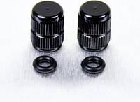 Алюминиевый колпачок вентиля камеры Pro-Bolt, черный (пара)