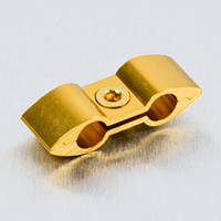 Алюминиевый разделитель шлангов Pro-Bolt, золотой