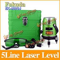 Фукуда эк-468gj 5 строк 1 пункт Уровень зеленый лазер 360 градусов поворотный лазер уровень