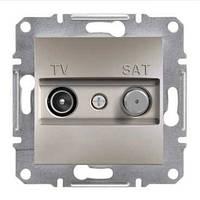 Розетка SCHNEIDER ASFORA EPH3400169 TV-SAT концевая (1 дБ) бронза