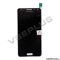 Дисплей (экран) Samsung G850F Galaxy Alpha, черный, с сенсорным стеклом