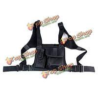 Walkie Talkie нагрудный карман пакет рюкзак телефон радио аксессуар держатель мешка две рации кейс для переноски черный