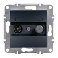 Розетка SCHNEIDER ASFORA EPH3400171 TV-SAT концевая (1 дБ) антрацит