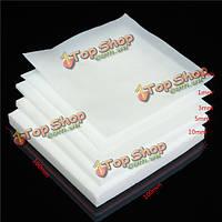 100x100мм ПТФЭ тефлон листовое белый пластик с инженерно 0.3мм 1мм 3мм 5мм толщиной 10мм
