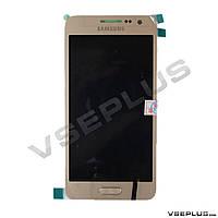 Дисплей (экран) Samsung A300F Galaxy A3 / A300H Galaxy A3, золотой, с сенсорным стеклом