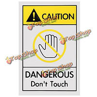 40 x 60мм промышленное предприятие безопасно предупреждающий знак опасно не прикасайтесь осторожность знак