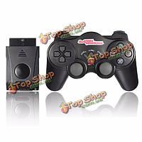 Беспроводной контроллер шок пришел геймпад джойстик для Sony Playstation 2 PS2 черный