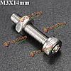 10шт m3x14мм из нержавеющей стали с шестигранной головкой винта болт и гайка набор