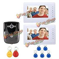 SYSD sy819fcid12 7-дюймов 2 видео домофон дверь домофон мониторы с RFID брелока ИК-камера комплект