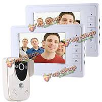 Enniosy 819fc12 7-дюймов TFT 2 видео домофон дверной звонок Интерком мониторы с комплектом ночного видения камеры