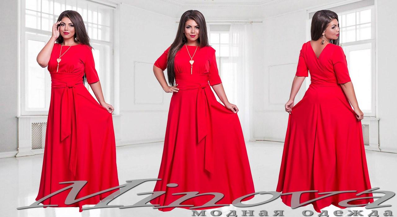 f387d0f42d2c948 ... Длинное нарядное красное платье стрейч вискоза Размеры 48 50,52,54,  фото 3