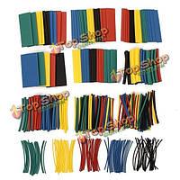 410шт 2: 1 полиолефина галогенов термоусаживаемые трубки Муфты 5 цвет 10 размер