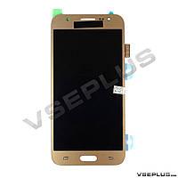 Дисплей (экран) Samsung J500F Galaxy J5 / J500H Galaxy J5, с сенсорным стеклом, золотой