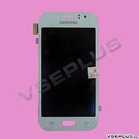 Дисплей (экран) Samsung J110 Galaxy J1 Duos / J111 Galaxy J1 Duos, белый, с сенсорным стеклом