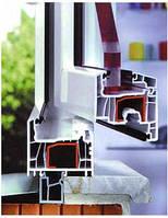 Окно из профиля Salamander StreamLine (5 камерный) 1,3х1,4 стандартное, стеклопакет 2-х кам  энергосберег
