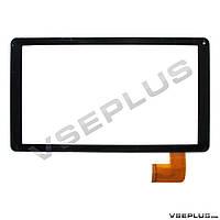 Тачскрин (сенсор) под китайский планшет Bravis NB102 / HK10DR2767 / QX20151207, черный, 10.1 inch