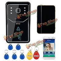 Эннио Эннио сенсорных кнопок WiFi дверной звонок видео дверной системы беспроводной домашний телефон внутренней связи IR камера RFID