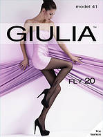Женские капроновые колготы Giulia FLY 20 den (черный цвет), 76/88