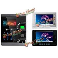 Сенсорный экран 2.8 дюймов realand m100 визуальное биометрическое дверное управление доступом карты отпечатка пальца с видео интеркомом