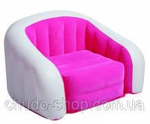 Надувное кресло-велюр Intex 97х76х69 см (68571)