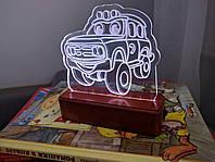 Светильник ночник светодиодный для детской комнаты Джип