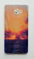 Чехол-накладка Силикон под углом Блестит для Samsung Galaxy A5 (2016) A510F Полупрозрачный Море