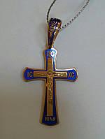 Золотой крест с эмалью, фото 1