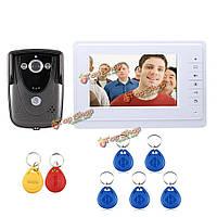 SYSD sy819fcid11 7-дюймовая видео дверь звонит наставнику интеркома дверного звонка с rfid keyfob ir комплект камеры