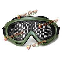 Тактический чистый металлический глазной ветер защиты петли x400 очки изумленных взглядов для пейнтбола airsoft наружные спортивные состязани