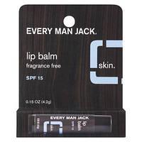 Мужской бальзам для губ без запаха Every Man Jack Lip Balm, SPF 15
