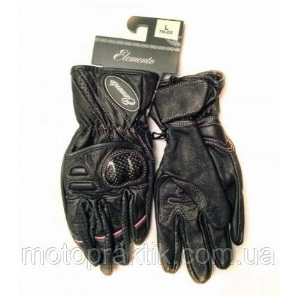 Elemento 205 Lady Gloves Blk/Pink, L Мотоперчатки жіночі
