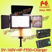 Сокол глаза DV- 160V cri95 + 5500k 160 LED лампы освещение с видео 2200mAh батареи и зарядное устройство для канона Nikon