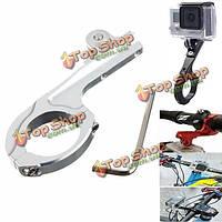 Мотоцикл мотоцикл алюминия адаптер велосипедное крепление для GoPro героя 1 2 3 3 плюс 4 Xiaomi ух sj4000 sj5000 sjcam